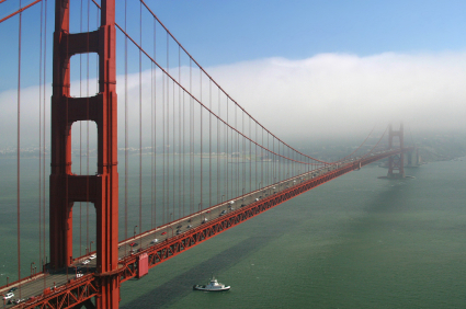 San Francisco weather information, including average temperatures and annual rainfall.